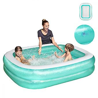 181 X 130cm Inflatable Swimming Pool Children Adults Summer Bathing Tub Baby Home Use Inflatable Paddling Pool
