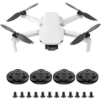Aluminiumlegierung Motorschutz Abdeckungen Hülle für DJI Mavic Mini Drone Zubehör (Schwarz)