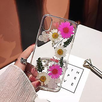 Real flower suitable for 12 apple x mobile phone case xs dried flower xr anti-drop cover(B)