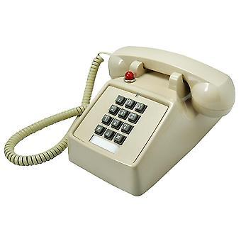 25T Retro Telephone Metal Pedestal Antique Telephone Classical Old Style Landline Telephone BEIGE