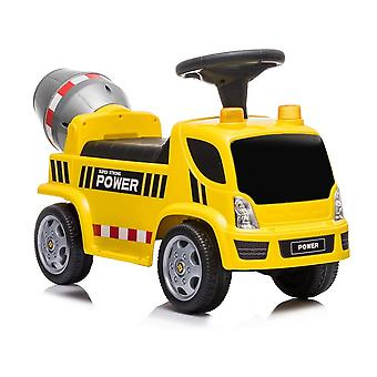 Elektrisch bestuurbare kinderauto betonmixer - geel