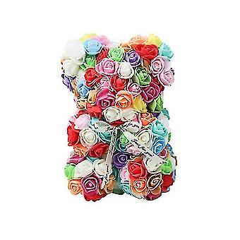 Подарок на день святого Валентина 25 см роза медведь день рождения подарок £? день памяти подарок плюшевый мишка (Красочный)