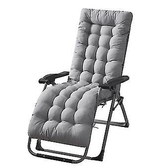 Paju tuoli art korkea tyyny kangas takaisin lepotuoli paksu pad ins puutarha (harmaa)