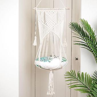 Cotton Handwoven Tapestry Pet Cat Hammock Bed Swing Bohemian Wall Hanging  For Home Bedroom