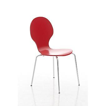 Eetkamerstoel - Eetkamerstoelen - Keukenstoel - Eetkamerstoel - Modern - Rood - Metaal - 43 cm x 45 cm x 86 cm