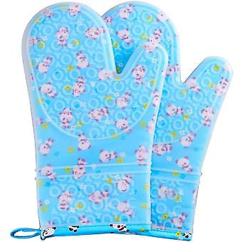 Silicone Oven Mitts Heat Resistant Flexible Cooking Gloves Non-slip Bpa Free