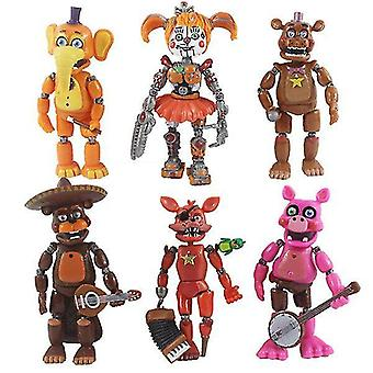 Video game consoles 6pcs five nights at freddy's action figures