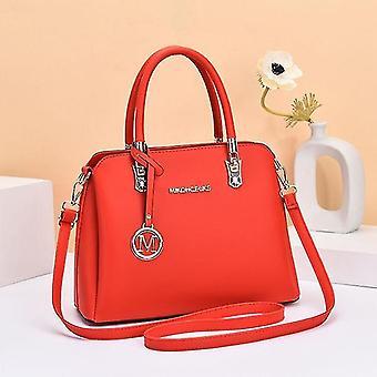 Handbags fashion women's handbag mother's bag lady large capacity leather shoulder messenger bag red