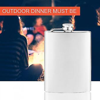 New Portable 200ml 8oz Stainless Steel Hip Flask Alcohol Drinking Wine Bottle