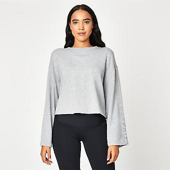 USA Pro Womens Tie Sweatshirt Ladies Crew Neck Long Sleeve Soft Casual Comfy Top