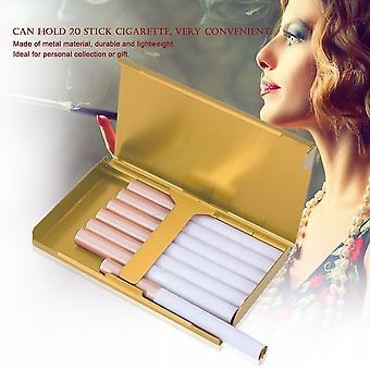 Women Super Thin Creative Cigarette Box 20 Stickers Metal Cigarette Box