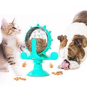 Cat Interactive Lelu Tuulimylly Kissat Ruoka Leaker Tuotteet Lemmikki leikki rakenne torni (sininen, keltainen, vihreä)