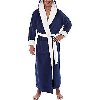 Männer Lange Kapuze Bademantel Morgenmantel Weiche Nachthemd Nachtwäsche