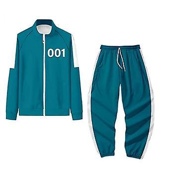 Squid Game Sweatshirt Suit 001/456/218/240, Round Six Cosplay Halloween Costume