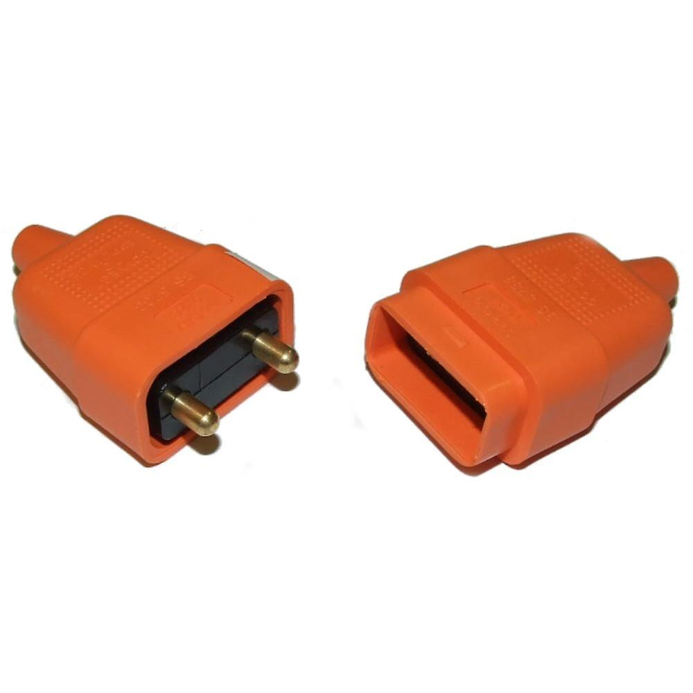 Lawnmower Plug And Socket Cable Connector 2 Pin