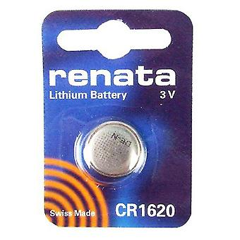 Renata CR1620 Lithium Watch / Key / Gadget Battery 3v Blister Packed - Pack of 10
