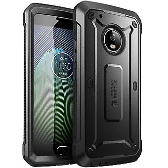 Moto G5 Plus Case, SUPCASE, Unicorn Beetle PRO Series,Full-body Rugged Holster Case- Black/Black