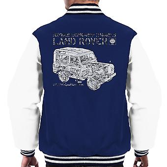 Haynes Workshop Manual Land Rover Camo Black Men's Varsity Jacket