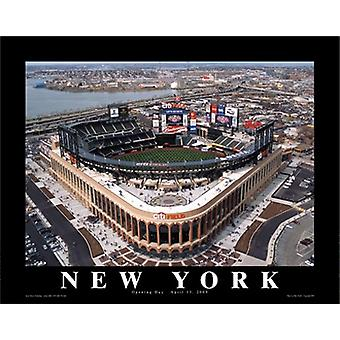 Mike Smith Citi Field New York Mets abertura dia Poster imprimir por Mike Smith (14 x 11)