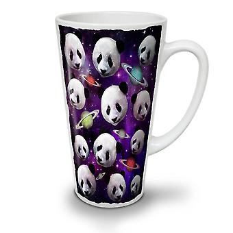 Panda Face Space NEW White Tea Coffee Ceramic Latte Mug 12 oz | Wellcoda