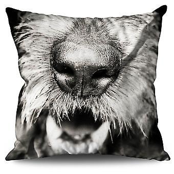 Welsh Terrier Cute Dog Linen Cushion 30cm x 30cm | Wellcoda
