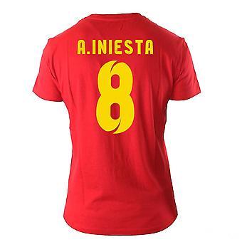 Andres Iniesta Visca El Barca held T-Shirt (rood)