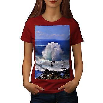 Water Spring Photo Women RedT-shirt | Wellcoda