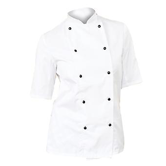 Dennys Womens/Ladies Lightweight Short Sleeve Chefs Jacket / Chefswear