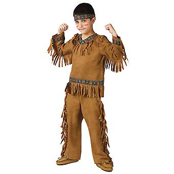 Native American Indian Warrior Cherokee Western Book Week Boys Costume