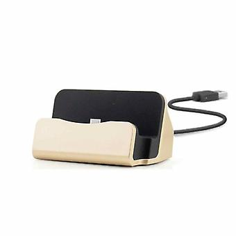 Cradle sync charger dock charging stand for Smartphone USB 3.1 type C gold