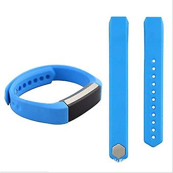 For Fitbit Alta HR plastic / silicone bracelet for women / size S sky blue watch