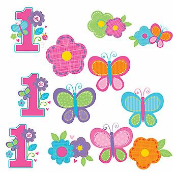Amscan 1st Birthday Cut Out Decorations (Pack of 12)