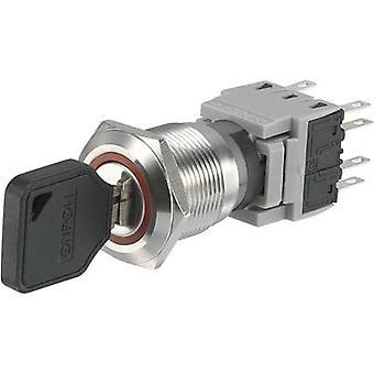 Interruttore a chiave di LAS1-BGQ-22Y/33 di TRU componenti 250 V AC 5 2 x (On)/Off/(On) 1 x 90 ° IP40 1/PC