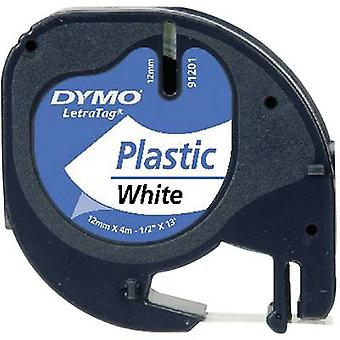 DYMO 91221 Labelling tape Tape colour: Oyster white Font colour: Black 12 mm 4 m