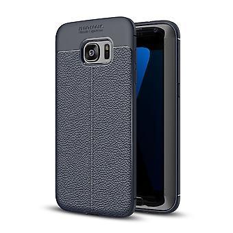 Celular capa capa para Samsung Galaxy S7 capa case de moldura azul