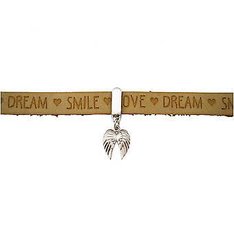 -Mola de fecho magnética dupla asa - prata 925 - pulseira - proteção Angel - desejos - areia marrom-