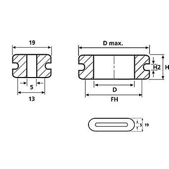 HellermannTyton HV1607-PVC-GY-G1 KaapeliläpivientiLiitin Ø (maks.) 29 mm Levyn paksuus (maks.) 3 mm PVC Harmaa 1 kpl