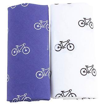 David Van Hagen nyhed cykel tørklædet indstillet - hvid/blå