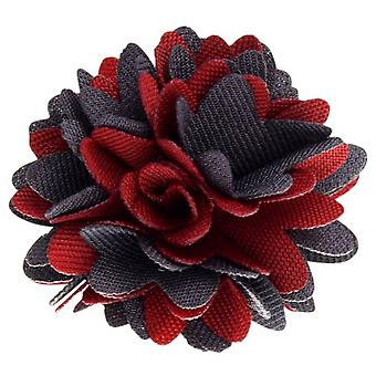 David Van Hagen kangas kukka rintaneulan - punainen/harmaa