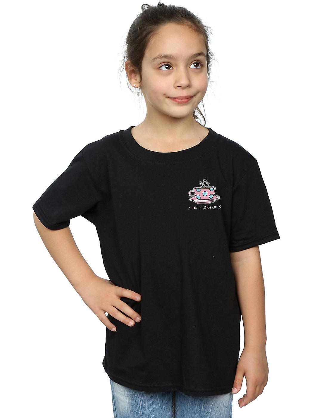 Friends Girls Coffee Cup Breast Print T-Shirt