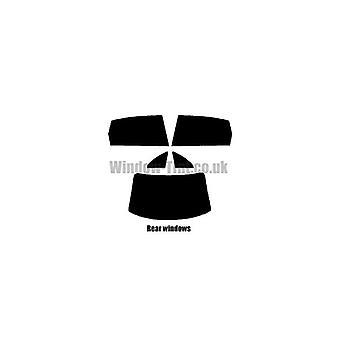 Pre taglio tinta finestra - Citroen C4 berlina a 4 porte - 2004-2008 - finestrini posteriori