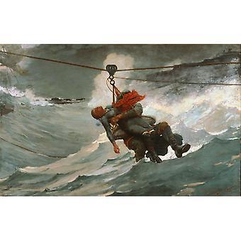 The Life Line, Winslow Homer, 60x40cm