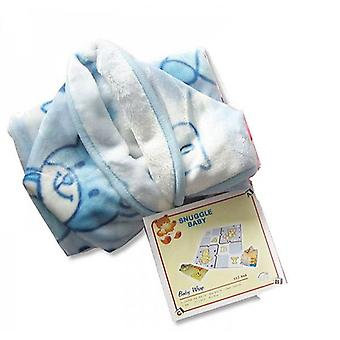 Sheldon Snuggle Baby Hooded Wrap Gift Box Blue