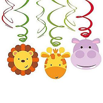 Amscan Jungle Friends Animals Swirls Hanging Decoration