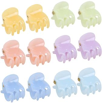TRIXES lot de 12 pinces cheveux – Miniature style accroche broche pinces – 6 couleurs Pastel assorties
