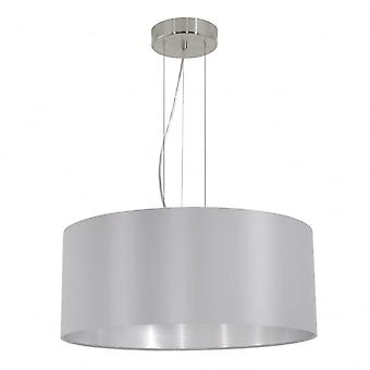 Eglo MASERLO Modern Silver And Silver Inner Shade Ceiling Pendant