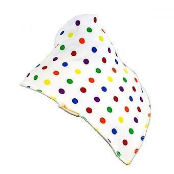 Bianco multicolore macchie XL bandana bavaglino