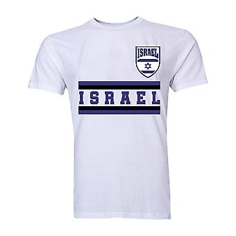 Israël Core voetbal land T-Shirt (wit)