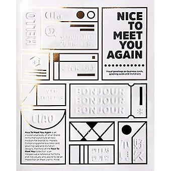 Nice to Meet You Again Visual Greetings on Business Cards, Greetings Cards and Invitations