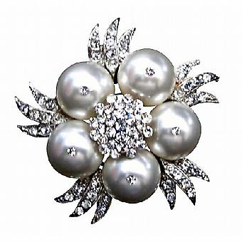 Witte parels broche bruiloft modieuze Bridal Wedding Bridemaids Swarovski witte parels broche